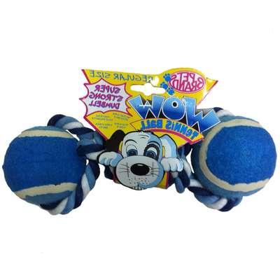 Brinquedo Mordedor Bolas e Corda WOW - Azul