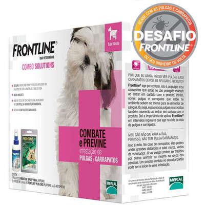 Anti Pulgas e Carrapatos Frontline Combo Solutions Combate e Previne para Cães Filhotes